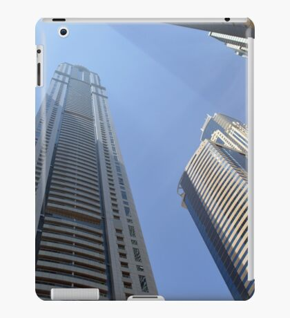 Photography of tall buildings from Dubai, United Arab Emirates. iPad Case/Skin