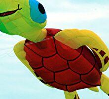 Happy turtle kite flying Sticker