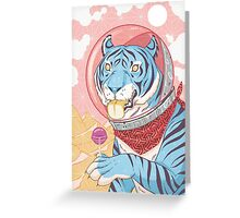 Space Tiger Greeting Card