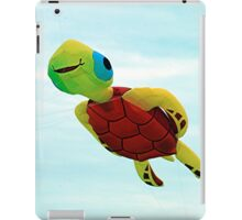 Happy turtle kite flying iPad Case/Skin