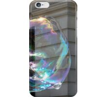 Colorful water bubble in front of classical facade building. iPhone Case/Skin