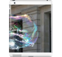 Colorful water bubble in front of classical facade building. iPad Case/Skin