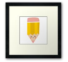 Lovely girly drawing pencil Framed Print