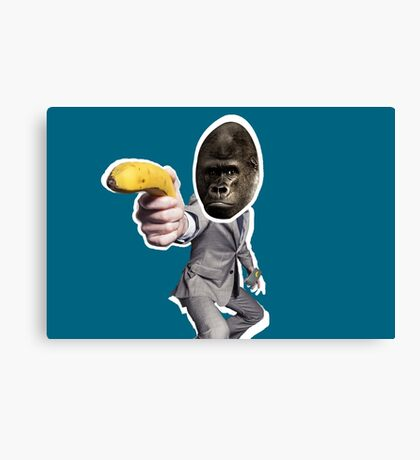 Monkey In A Suit Canvas Print