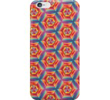 hypnotizing abstract hexagon patterns, vivid colors iPhone Case/Skin