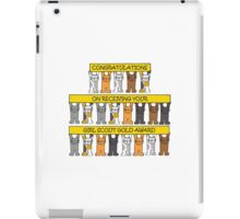Congratulations on receiving your girl scout gold award. iPad Case/Skin