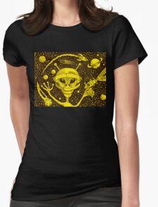 Alien Trooper Womens Fitted T-Shirt