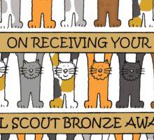Girl Scout Bronze Award Congratulations. Sticker
