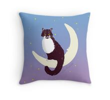 Indi and the Moon - Custom Portrait Throw Pillow