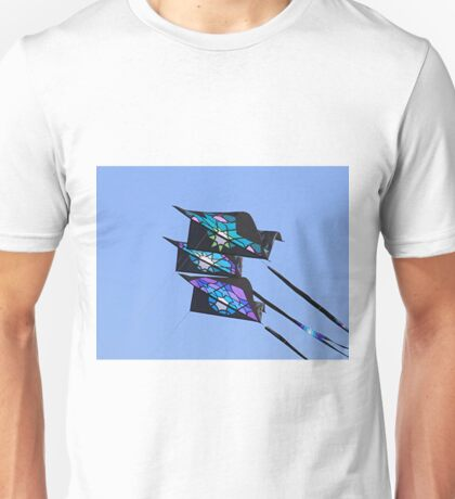 Three kites flying in sky Unisex T-Shirt