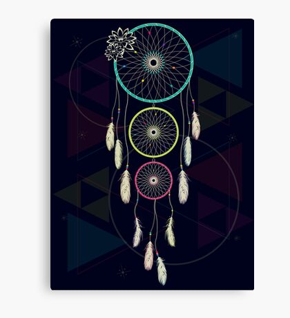 Psychedelic Dream Catcher Ambience Canvas Print