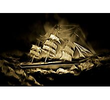 An old style digital painting of the Cutty Sark Photographic Print