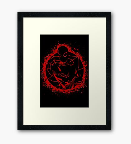 Shadow of Spidey Framed Print