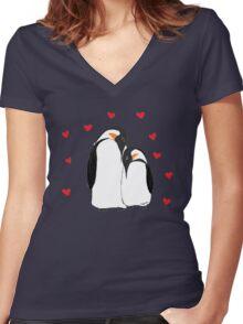 Penguin Partners - Vday edition Women's Fitted V-Neck T-Shirt