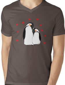 Penguin Partners - Vday edition Mens V-Neck T-Shirt