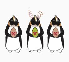 Easter Bunny-Penguin Kids Tee