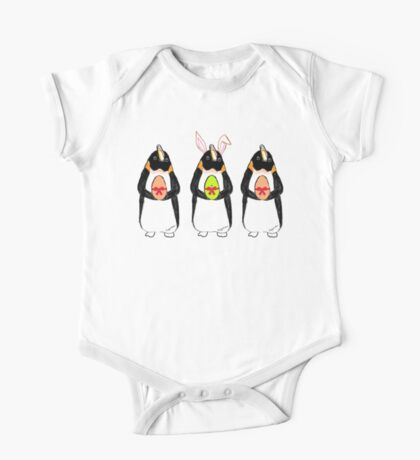 Easter Bunny-Penguin One Piece - Short Sleeve