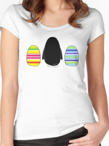 Penguins and Eggs Women's Fitted Scoop T-Shirt