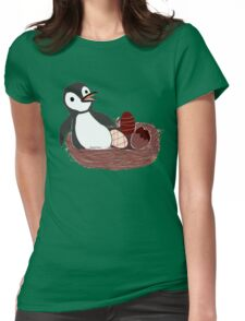 Pengy and the Chocolate Egg Womens Fitted T-Shirt