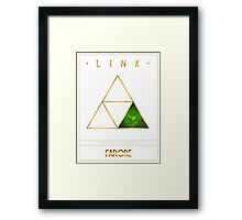 Triforce Designs - Farore's Courage Edition Framed Print