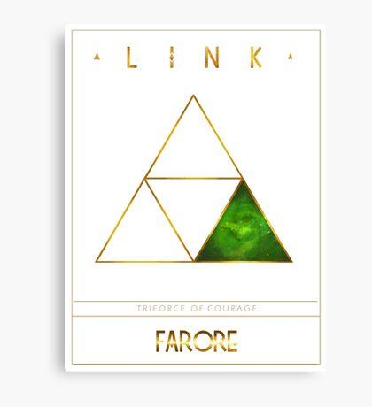 Triforce Designs - Farore's Courage Edition Canvas Print