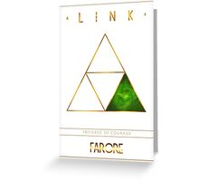Triforce Designs - Farore's Courage Edition Greeting Card