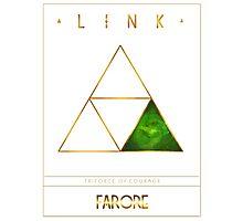 Triforce Designs - Farore's Courage Edition Photographic Print