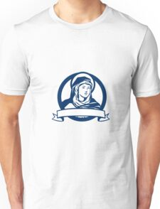 Blessed Virgin Mary Scroll Retro Unisex T-Shirt