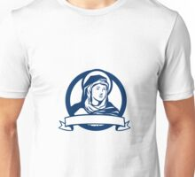 Blessed Virgin Mary Scroll Retro Unisex T-Shirt