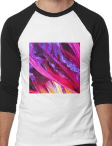 Rhubarb in Purple Men's Baseball ¾ T-Shirt