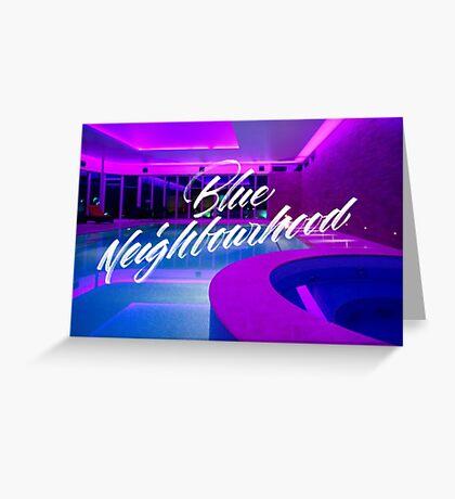 Troye Sivan Blue Neighborhood Poolside Greeting Card