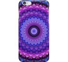 Mandala in blue and pink tones iPhone Case/Skin