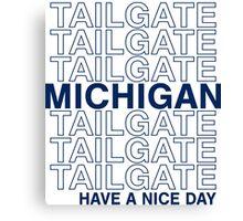 Blue Michigan Tailgate Canvas Print