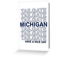 Blue Michigan Tailgate Greeting Card