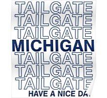 Blue Michigan Tailgate Poster