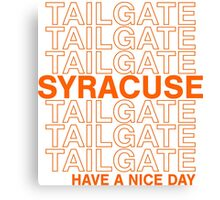 Syracuse Tailgate Canvas Print