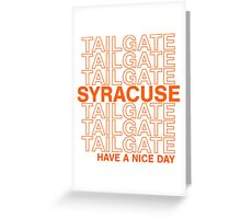 Syracuse Tailgate Greeting Card