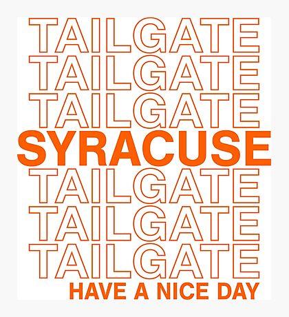 Syracuse Tailgate Photographic Print