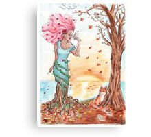 Blooming in the fall Canvas Print