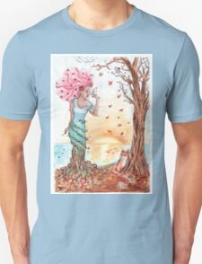 Blooming in the fall Unisex T-Shirt