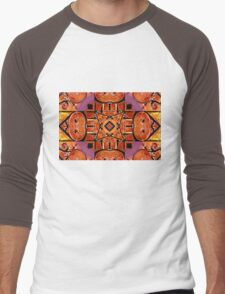 Old Rusty Farm Machines ( Abstract ) Men's Baseball ¾ T-Shirt