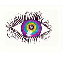 Autistic Eye Art Print