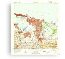USGS TOPO Map Puerto Rico PR San Juan 362586 1949 30000 Canvas Print