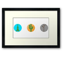 Mr Tree, Cactus and branches  Framed Print