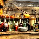 Old Glass Bottles by Simon Duckworth