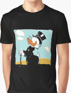 Uncle Scrooge on landscape Graphic T-Shirt