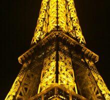 Illuminated Eiffel Tower, Paris.  Sticker