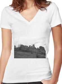 A Travel To The Past Women's Fitted V-Neck T-Shirt