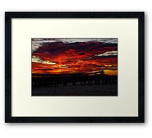 Wallaroo Sunset. Framed Print