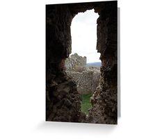 Through The Ancient Walls Greeting Card
